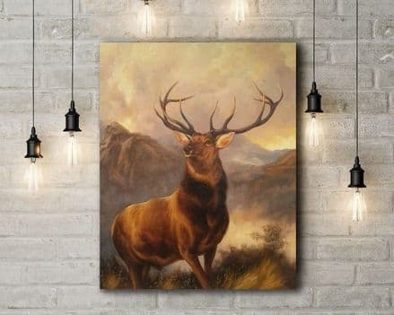 Edwin Landseer: Monarch of the Glen. Fine Art Canvas.