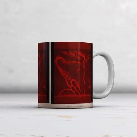 Etienne Leopold Trouvelot: Solar Protuberances. Fine Art Mug/Cup (Coffee/Tea Mug)