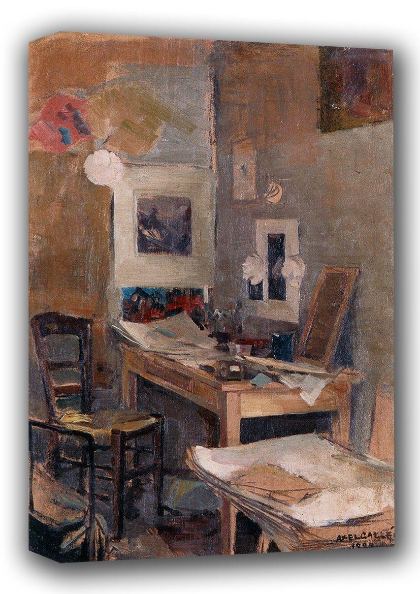 Gallen-Kallela, Akseli: My First Room in Paris. Fine Art Canvas. Sizes: A3/A2/A1 (001080)