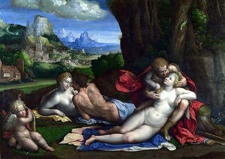 Garofalo: An Allegory of Love. Fine Art Print/Poster. Sizes: A4/A3/A2/A1 (001302)