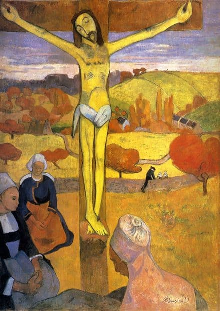 Gauguin, Paul: Yellow Christ. Fine Art Print/Poster. Sizes: A4/A3/A2/A1 (001535)