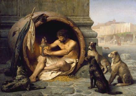 Gerome, Jean Leon: Diogenes. Fine Art Print/Poster. Sizes: A4/A3/A2/A1 (002839)