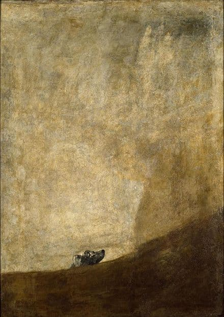 Goya, Francisco de: The Dog. Fine Art Print/Poster. Sizes: A4/A3/A2/A1 (00240)