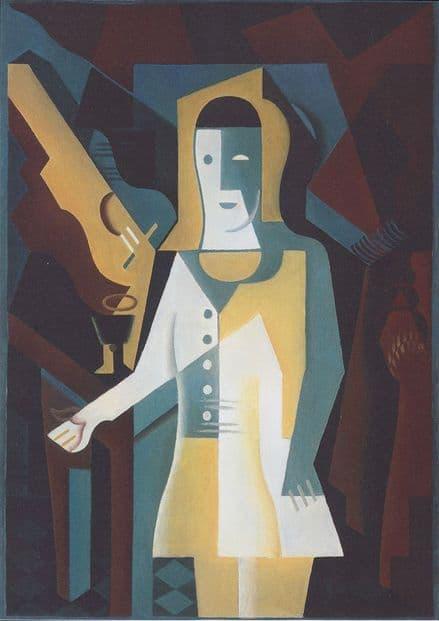 Gris, Juan: Pierrot. Fine Art Print/Poster. Sizes: A4/A3/A2/A1 (003123)