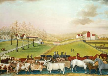 Hicks, Edward: The Cornell Farm. Fine Art Print/Poster. Sizes: A4/A3/A2/A1 (00113)