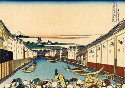 Hokusai, Katsushika: Nihonbashi Bridge in Edo. Fine Art Print/Poster (4362)
