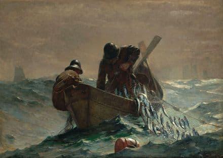 Homer, Winslow: The Herring Net. Marine/Fishing Fine Art Print/Poster. Sizes: A4/A3/A2/A1 (003031)