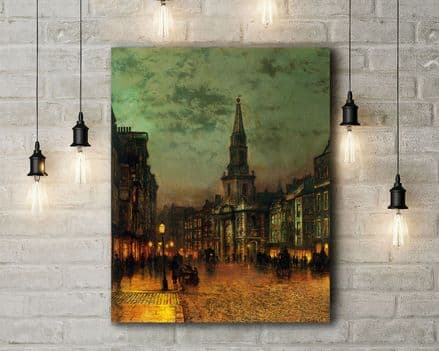 John Atkinson Grimshaw: Blackman Street, London. Fine Art Canvas.