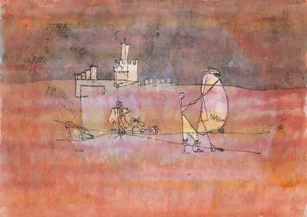 Klee, Paul: Episode Before an Arab Town. Fine Art Print/Poster (4980)