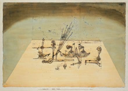 Klee, Paul: Yellow Harbour. Fine Art Print/Poster (5008)
