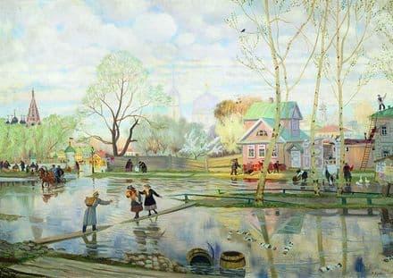 Kustodiev, Boris: Spring. Fine Art Print/Poster. Sizes: A4/A3/A2/A1 (002192)