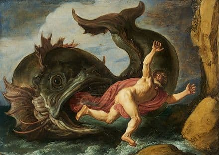 Lastman, Pieter: Jonah and the Whale. Fine Art Print/Poster (2141)