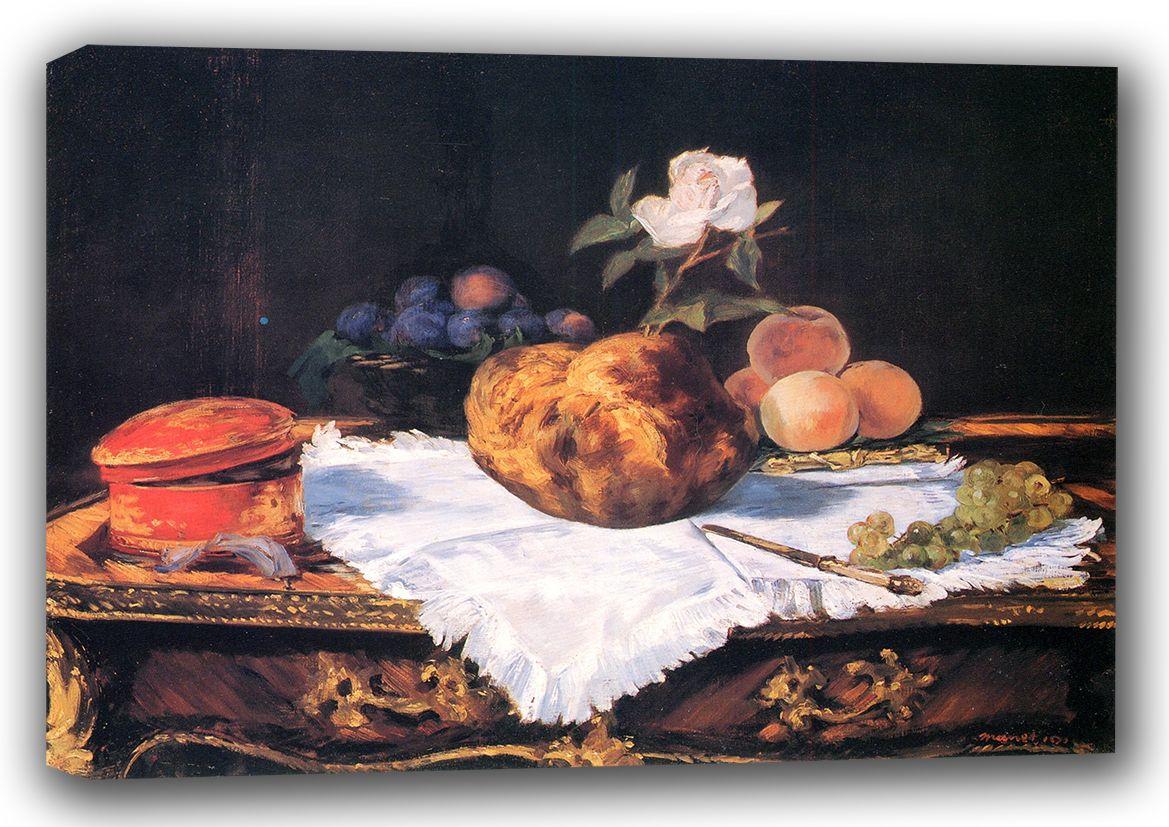 Manet, Edouard: The Brioche. Fine Art Canvas. Sizes: A3/A2/A1 (00685)