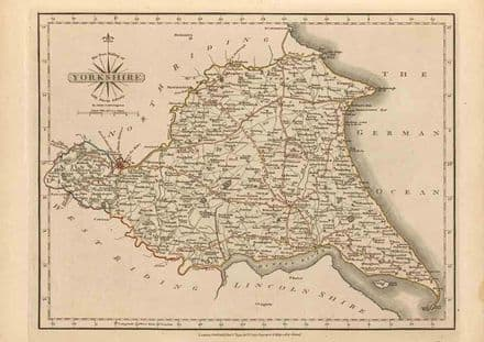 Map of East Riding of Yorkshire, England 1793 Fine Art Map Print/Poster