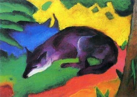 Marc, Franz: The Vixen. Fine Art Animal Print/Poster. Sizes: A4/A3/A2/A1 (003309)