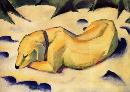 Marc, Franz: White Dog. Fine Art Animal Print/Poster. Sizes: A4/A3/A2/A1 (00699)