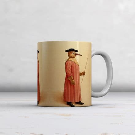 Medical Illustration Plague Doctor. Fine Art Mug/Cup (Coffee/Tea Mug)