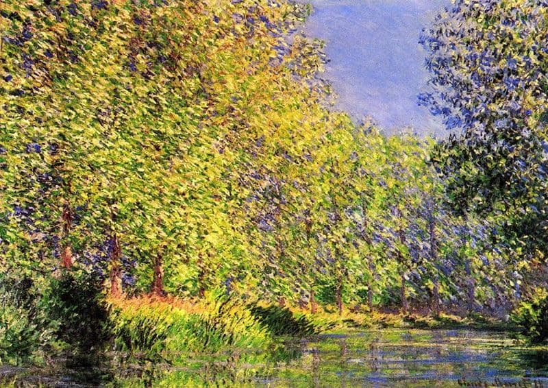 Monet, Claude: A Bend of the River Epte, Giverny. Fine Art Print/Poster. Sizes: A4/A3/A2/A1 (00746)