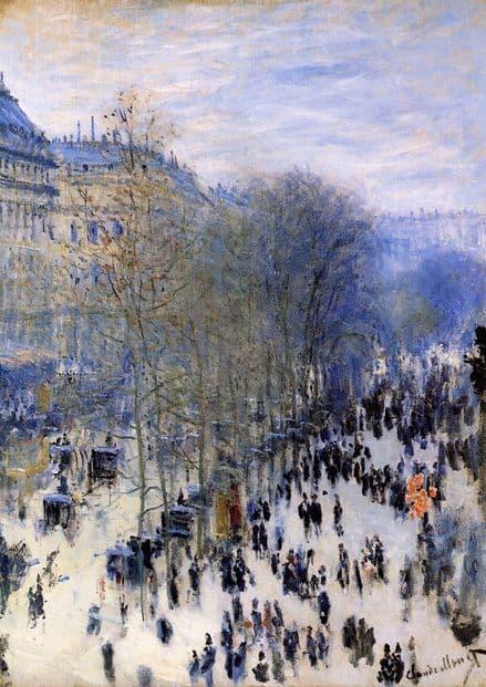 Monet, Claude: Boulevard des Capucines. Fine Art Print/Poster. Sizes: A4/A3/A2/A1 (00752)