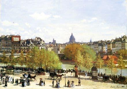 Monet, Claude: Le Quai du Louvre. Fine Art Print/Poster. Sizes: A4/A3/A2/A1 (00766)