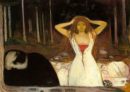 Munch, Edvard: Ashes. Fine Art Print/Poster. Sizes: A4/A3/A2/A1 (00876)