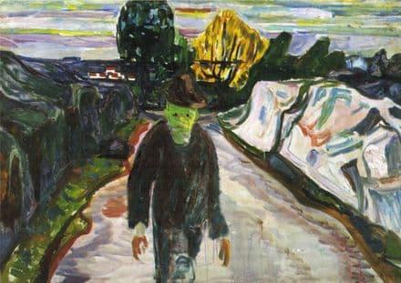 Munch, Edvard: The Murderer. Fine Art Print/Poster. Sizes: A4/A3/A2/A1 (00909)