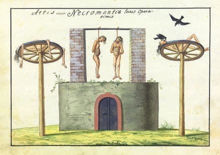 Occult Art: Necromancy Operation Room (Compendium Rarissimum, c. 1775). Fine Art Print/Poster (4777)