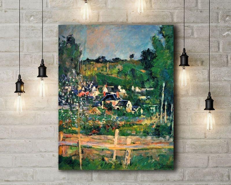 Paul Cezanne: Auvers. Fine Art Canvas.