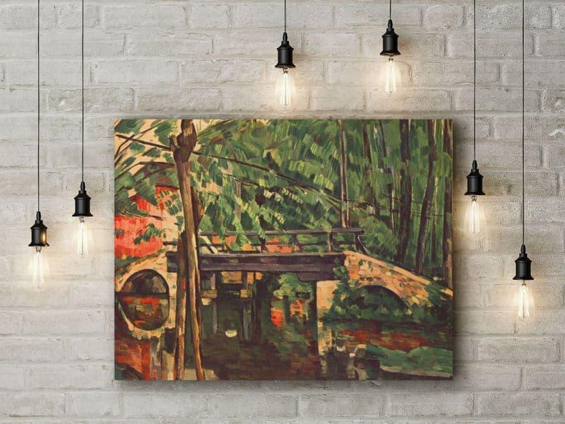 Paul Cezanne: The Petit Pont. Fine Art Canvas.