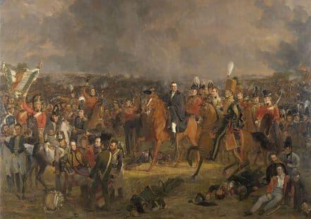 Pieneman, Jan Willem: The Battle of Waterloo. Fine Art Print/Poster. Sizes: A4/A3/A2/A1 (004027)