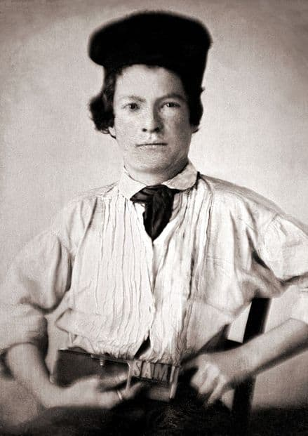 Portrait of Samuel Clemens, Mark Twain as a Youth (1850). Print/Poster (5408)