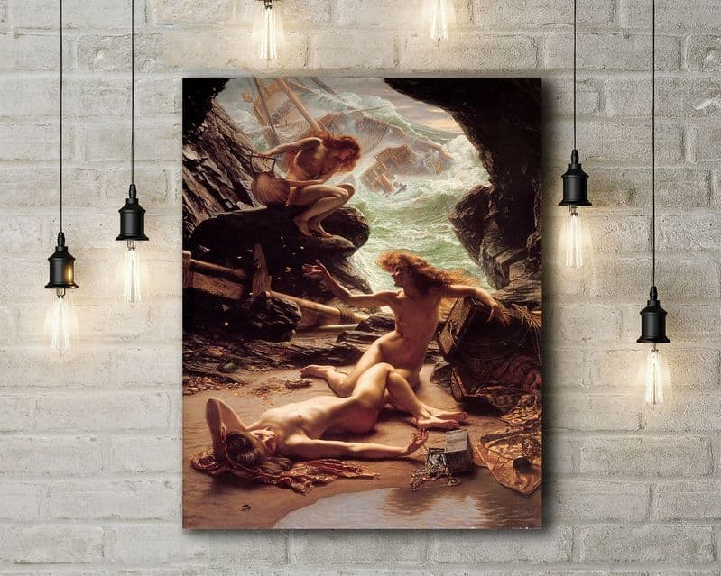 Poynter: The Cave of the Storm Nymphs.  Fine Art Canvas.