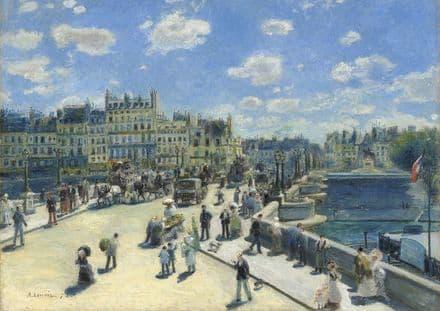 Renoir, Pierre Auguste: Pont-Neuf/New Bridge. Fine Art Print/Poster. Sizes: A4/A3/A2/A1 (004278)