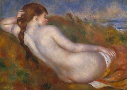 Renoir, Pierre Auguste: Reclining Nude. Fine Art Print/Poster. Sizes: A4/A3/A2/A1 (004268)