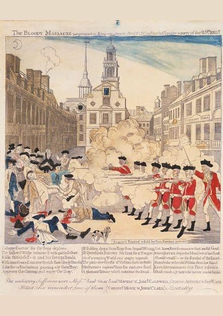 The Boston Massacre By Paul Revere. Art Print/Poster (4844)