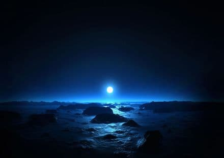 The Sea and the Moon at Midnight. Print/Poster. Sizes: A4/A3/A2/A1