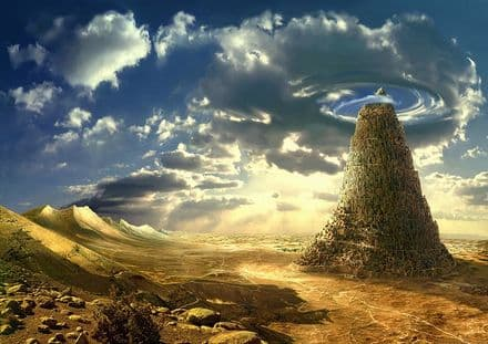 The Tower of Babel. Biblical Art Print/Poster. Sizes: A1/A2/A3/A4 (002290)