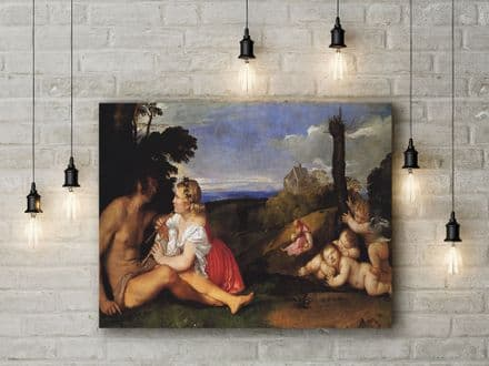 Titian: The Three Ages of Man. Fine Art Canvas.