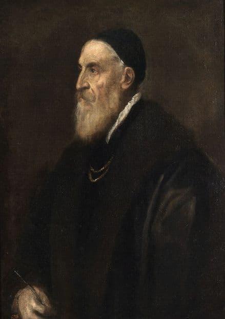 Titian (Tiziano Vecellio): Self Portrait. Fine Art Print/Poster. Sizes: A4/A3/A2/A1 (001946)