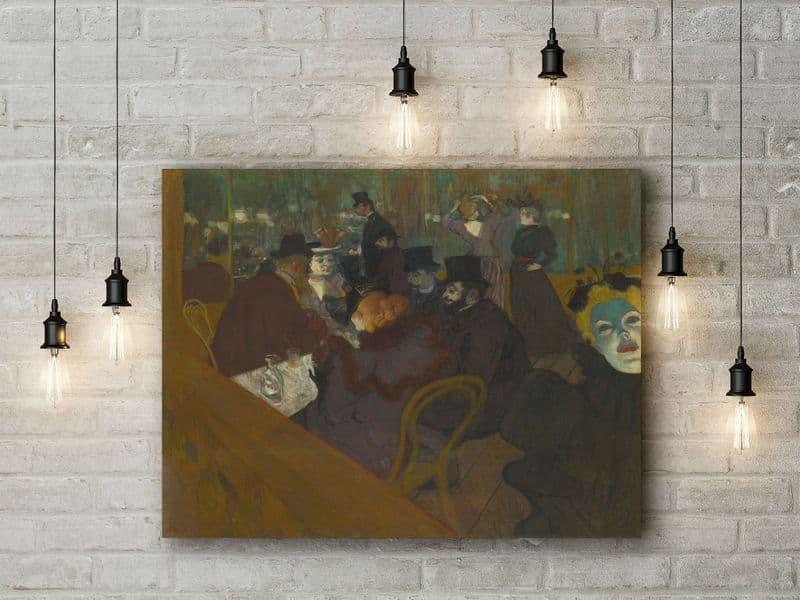 Toulouse Lautrec: At the Moulin Rouge. Fine Art Canvas.