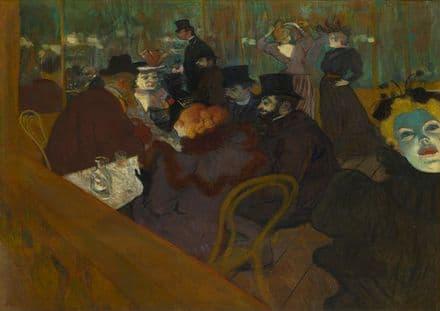 Toulouse-Lautrec, Henri de: At the Moulin Rouge. Fine Art Print/Poster. Sizes: A4/A3/A2/A1 (002217)