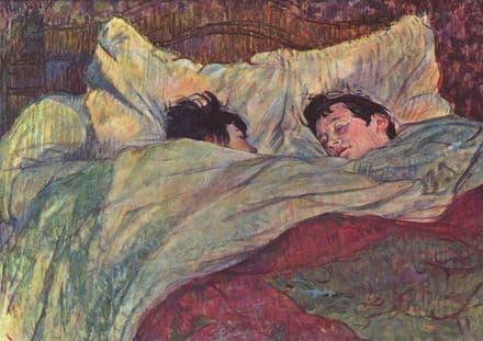 Toulouse-Lautrec, Henri de: The Bed. Fine Art Print/Poster. Sizes: A4/A3/A2/A1 (00276)