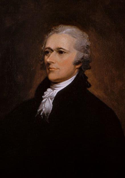 Trumbull, John: Portrait of Alexander Hamilton. Fine Art Print/Poster (4843)