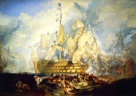 Turner, Joseph Mallord William: The Battle of Trafalgar, 21 October 1805. Art Print/Poster (5425)