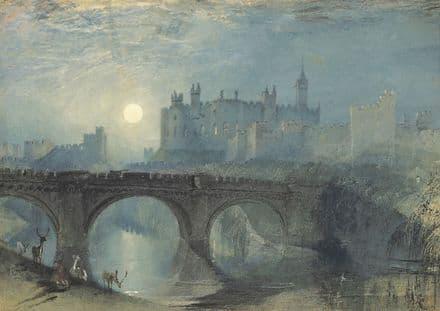 Turner, William: Alnwick Castle. Fine Art Print/Poster. Sizes: A1/A2/A3/A4 (00563)