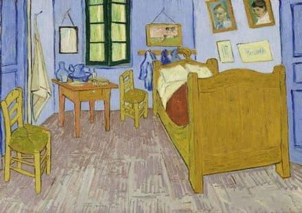 Van Gogh, Vincent: Bedroom at Arles. Fine Art Print/Poster. Sizes: A4/A3/A2/A1 (00617)
