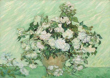 Van Gogh, Vincent: Roses. Fine Art Print/Poster. Sizes: A4/A3/A2/A1 (003557)