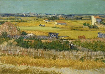Van Gogh, Vincent: The Harvest. Fine Art Print/Poster. Sizes: A4/A3/A2/A1 (0018)