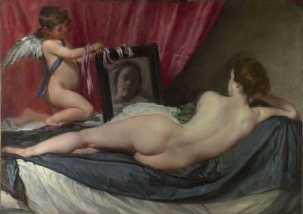 Velazquez, Diego: The Rokeby Venus. Fine Art Print/Poster. Sizes: A4/A3/A2/A1 (00274)
