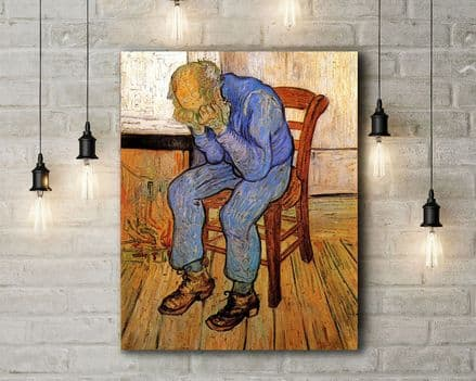 Vincent Van Gogh: Old Man in Sorrow On the Threshold of Eternity. Fine Art Canvas.